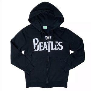 The Beatles Black Zip Unisex Hoodie Sweatshirt
